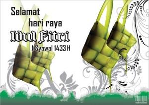 Ucapan idul Fitri 2012